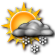 Partly Cloudy with Scattered Snow Showers